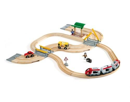 BRIO Strassen + Schienen Reisezug Set