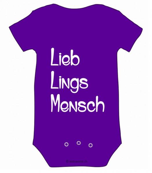 """Baby Body bedruckt """"Lieblingsmensch"""""""