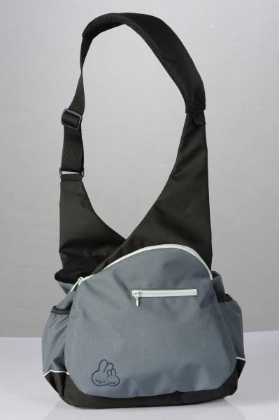 Wickeltasche mit Traghilfe, grau-blau