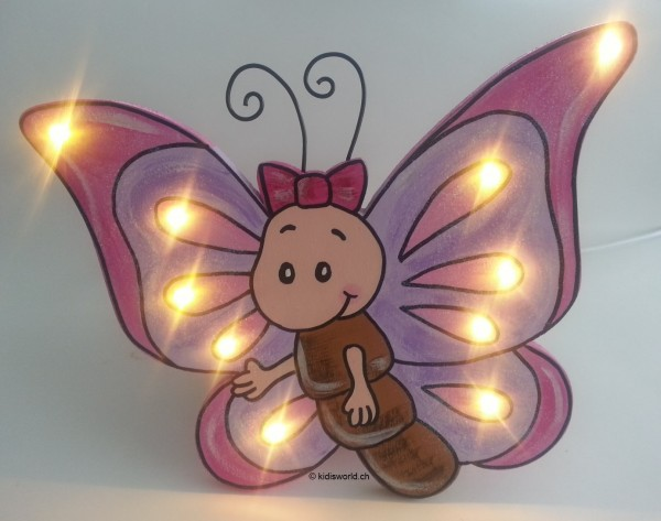 "Schlummerlampe ""Schmetterling rosa"""