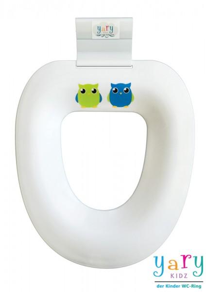 """WC-Ring mit """"Eulen Duo grün/blau"""""""