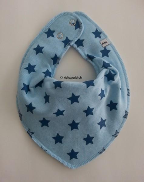 Dreieckstuch Sterne, hellblau/vallarte blau