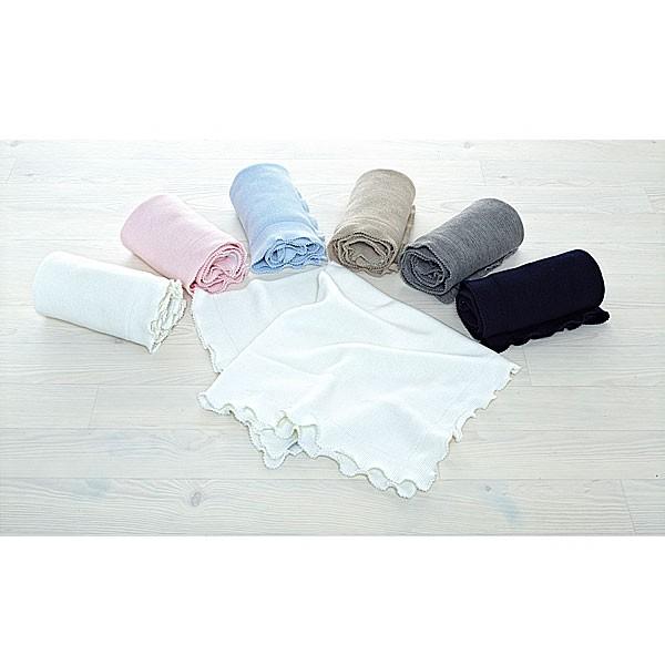 Decke mit Häkelabschluss (Merino)