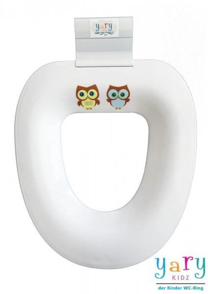 """WC-Ring mit """"Eulen Duo gelb/blau"""""""