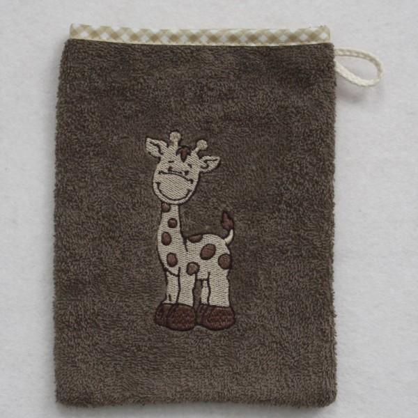 """Waschhandschuh """"Giraffe"""", hellbraun"""
