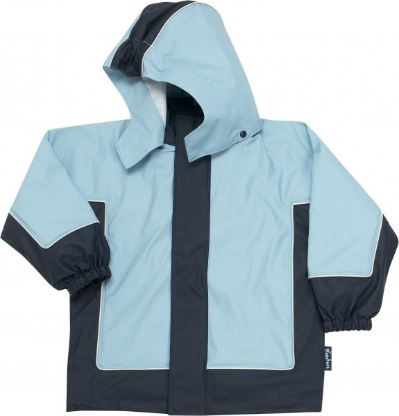 Regenjacke mit fleece 3 in 1, marine/hellblau